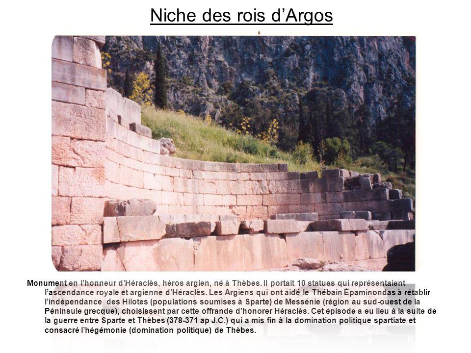 Niche des rois d'Argos