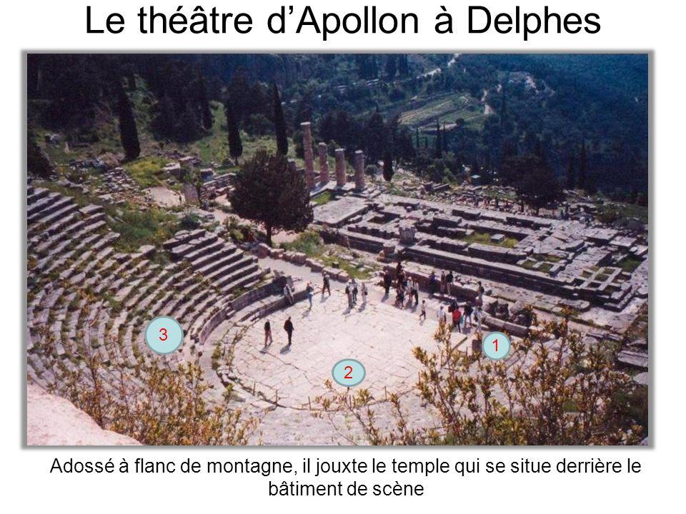 Le théâtre d'Apollon à Delphes