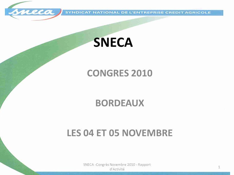 CONGRES 2010 BORDEAUX LES 04 ET 05 NOVEMBRE