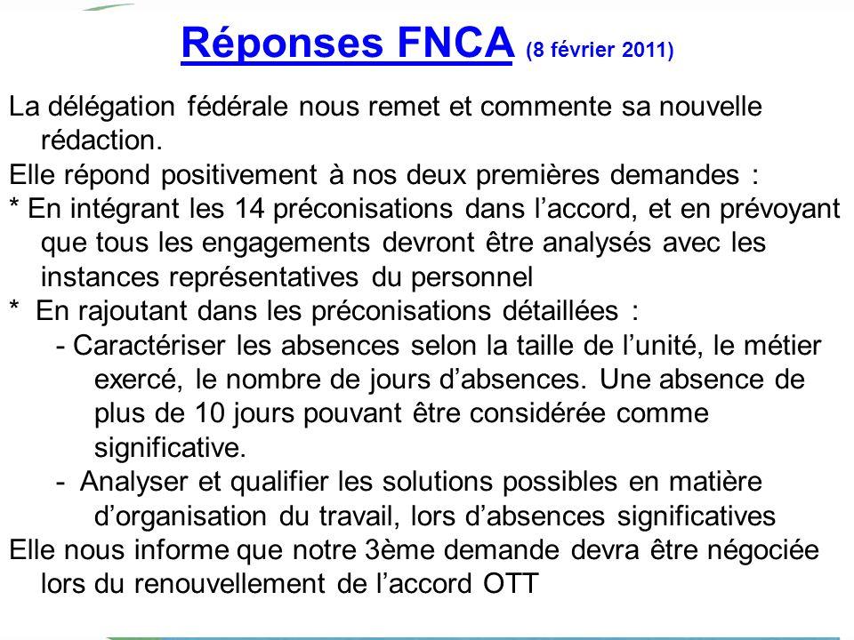 Réponses FNCA (8 février 2011)