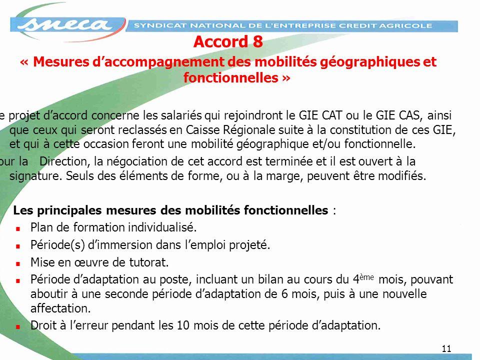 Accord 8 « Mesures d'accompagnement des mobilités géographiques et fonctionnelles »