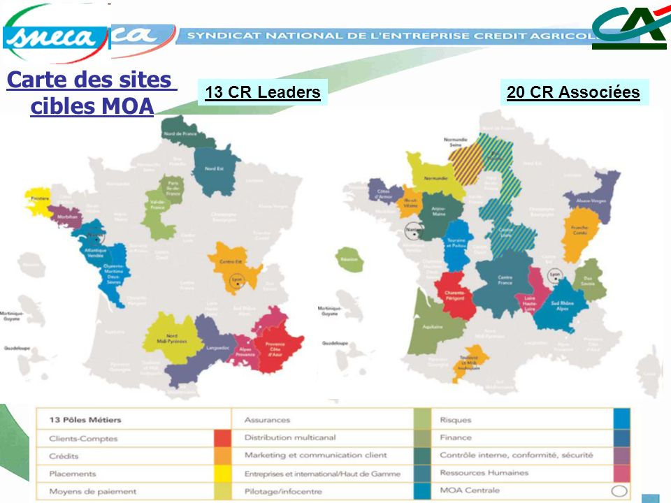 Carte des sites cibles MOA