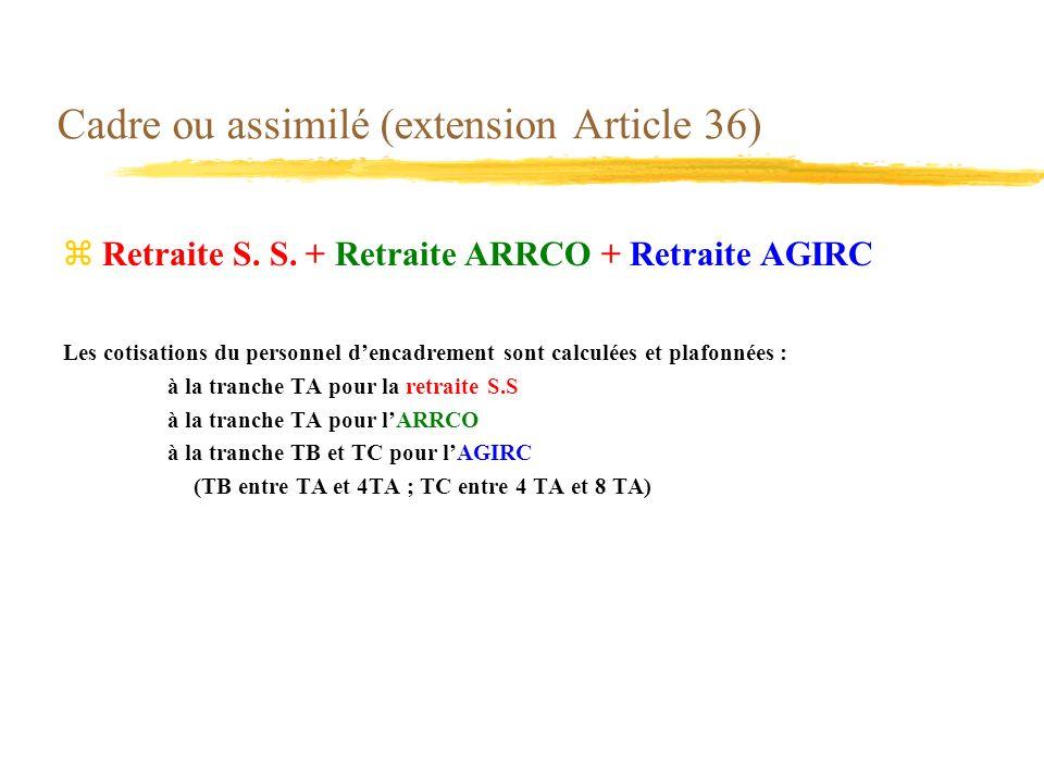 Cadre ou assimilé (extension Article 36)