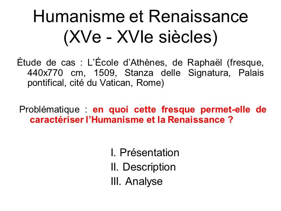 Humanisme et Renaissance (XVe - XVIe siècles)