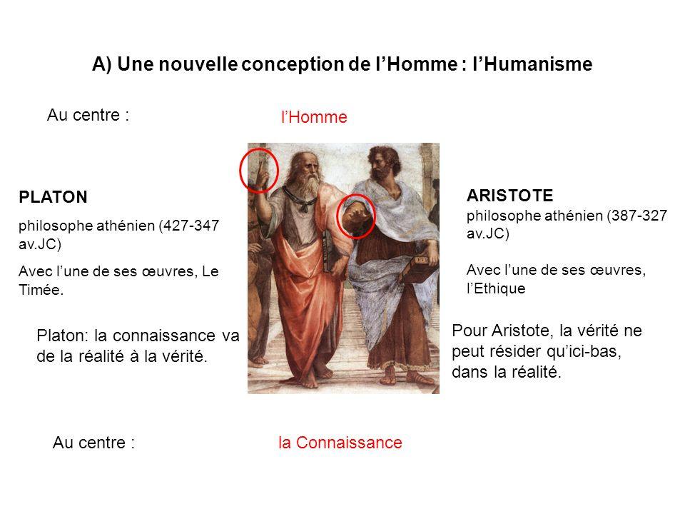A) Une nouvelle conception de l'Homme : l'Humanisme