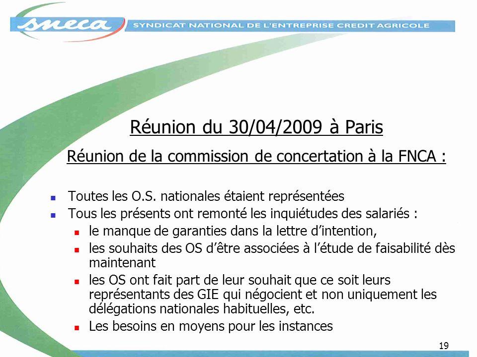 Réunion de la commission de concertation à la FNCA :