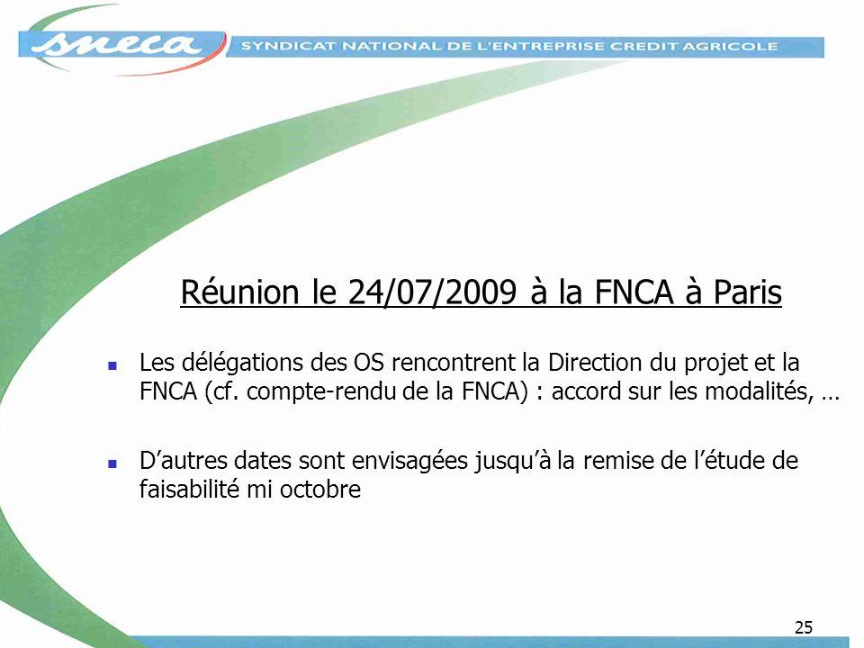 Réunion le 24/07/2009 à la FNCA à Paris