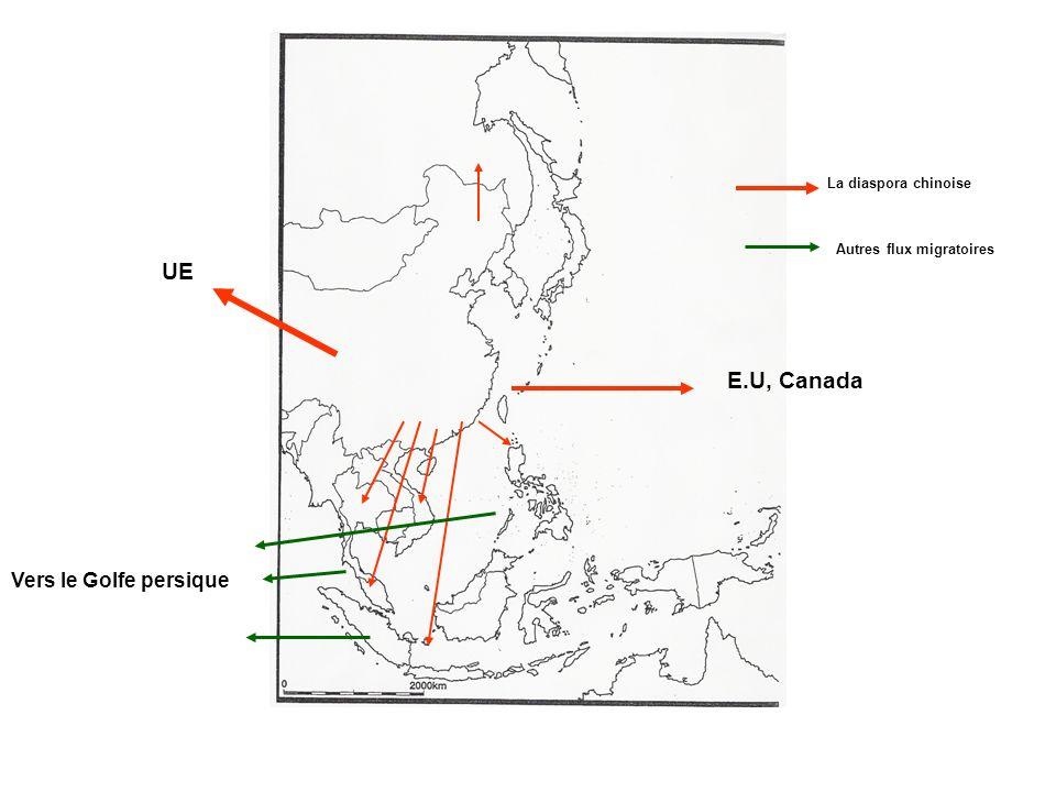 UE E.U, Canada Vers le Golfe persique La diaspora chinoise