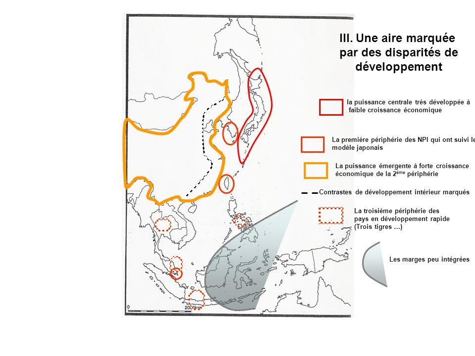 III. Une aire marquée par des disparités de développement