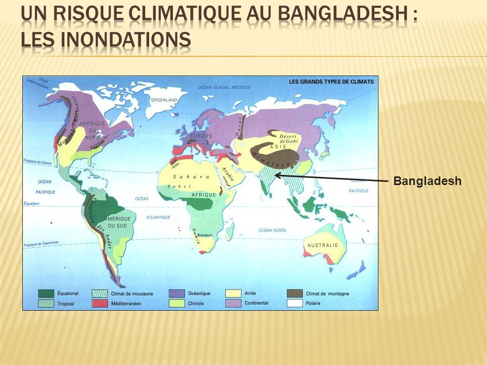 Un risque climatique au bangladesh : les inondations