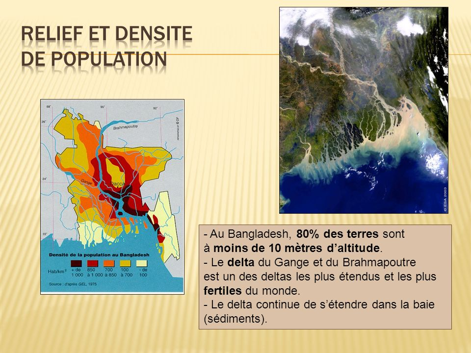 Relief et densite de population