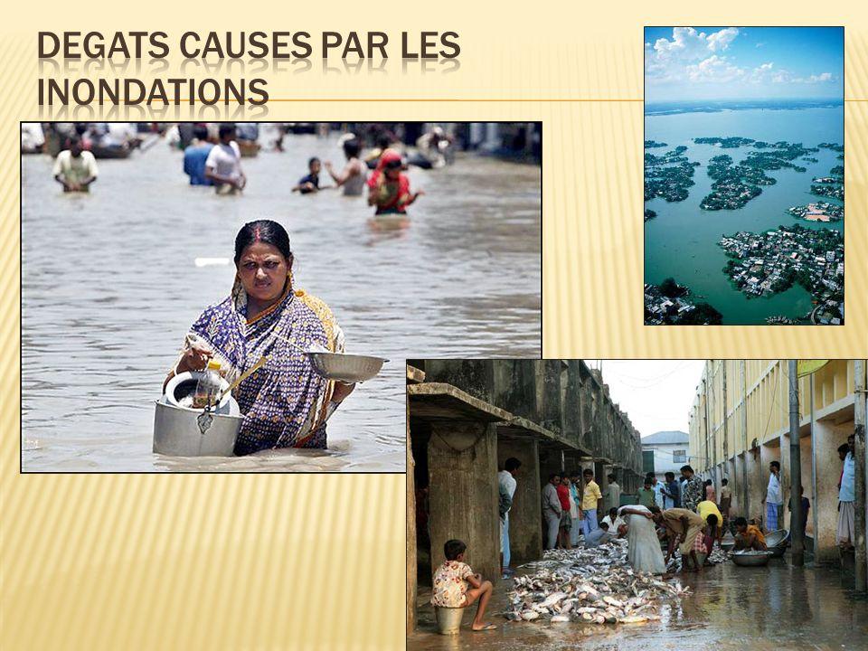 Degats causes par les inondations