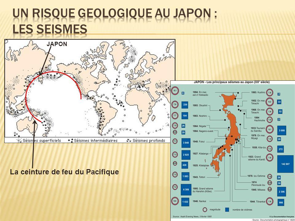 UN RISQUE GEOLOGIQUE AU JAPON : LES SEISMES