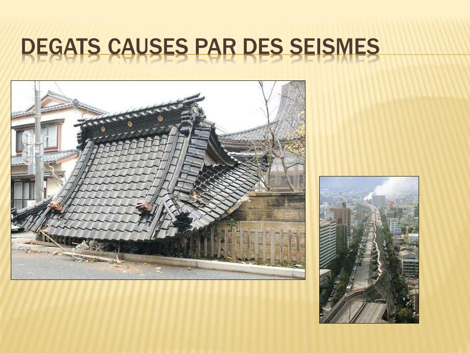 Degats causes par des seismes