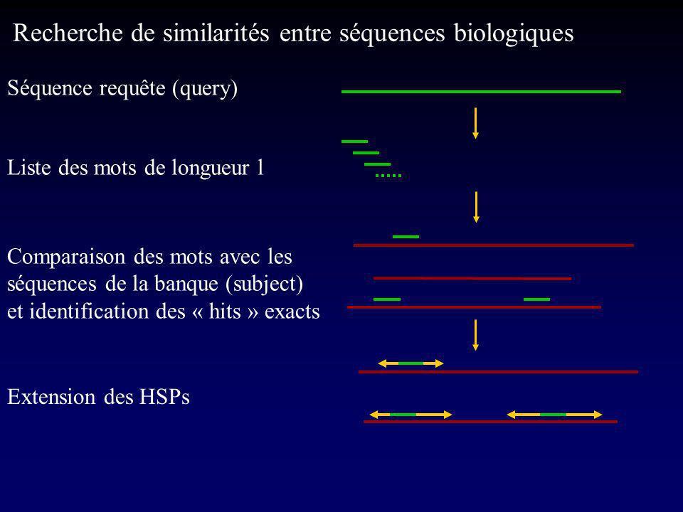 Recherche de similarités entre séquences biologiques