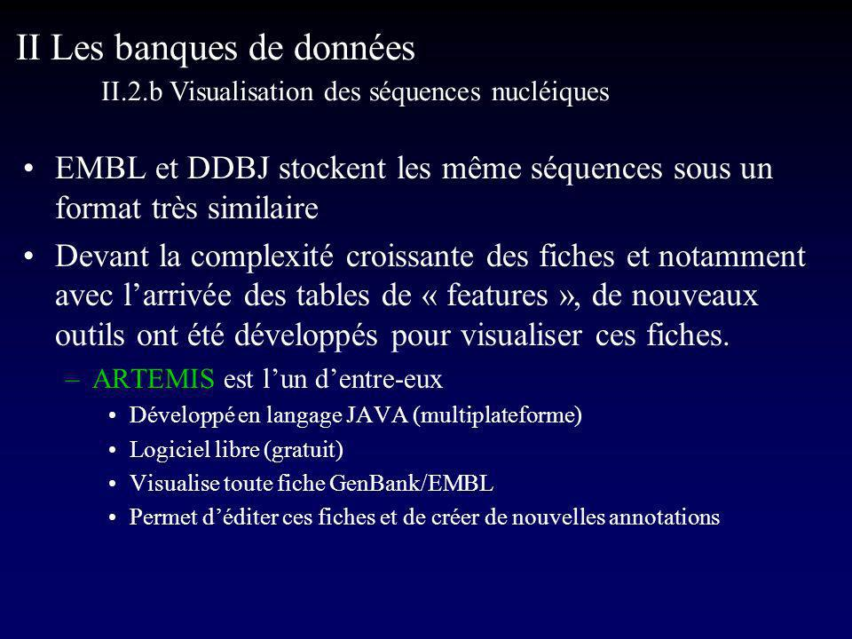II Les banques de données