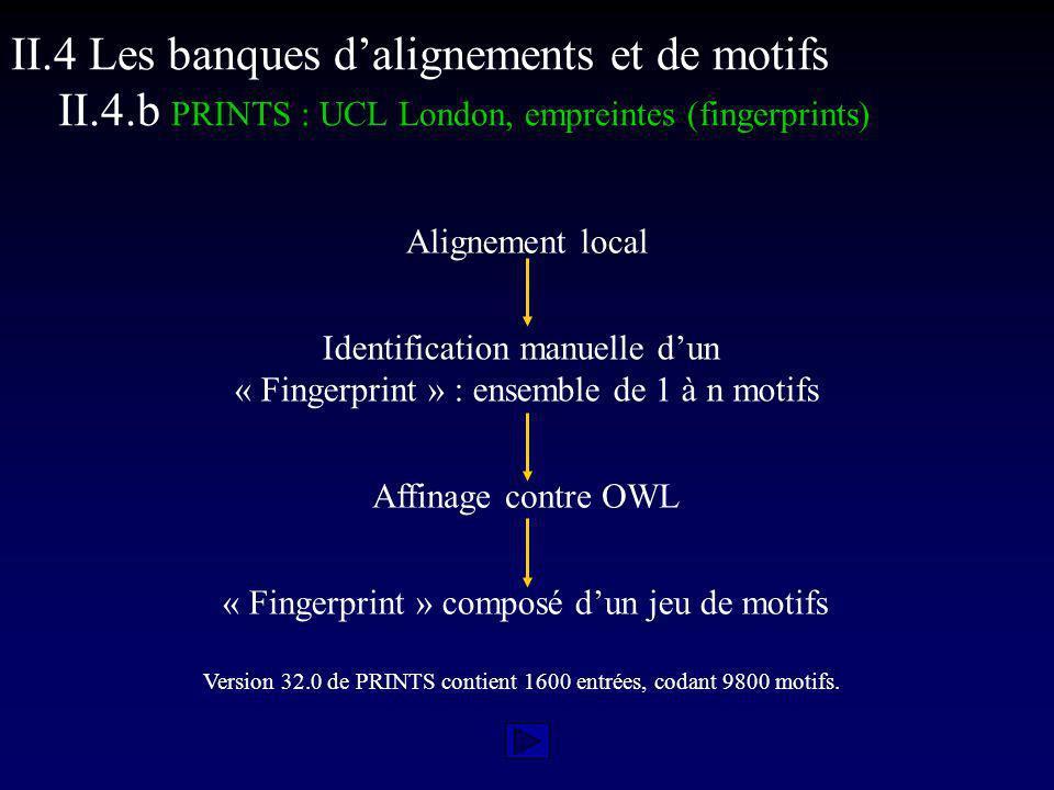 II. 4 Les banques d'alignements et de motifs II. 4