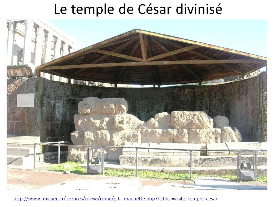 Le temple de César divinisé