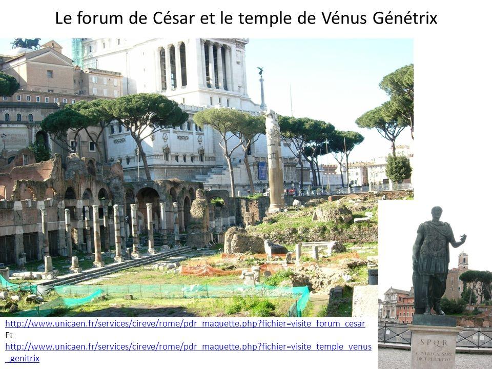 Le forum de César et le temple de Vénus Génétrix