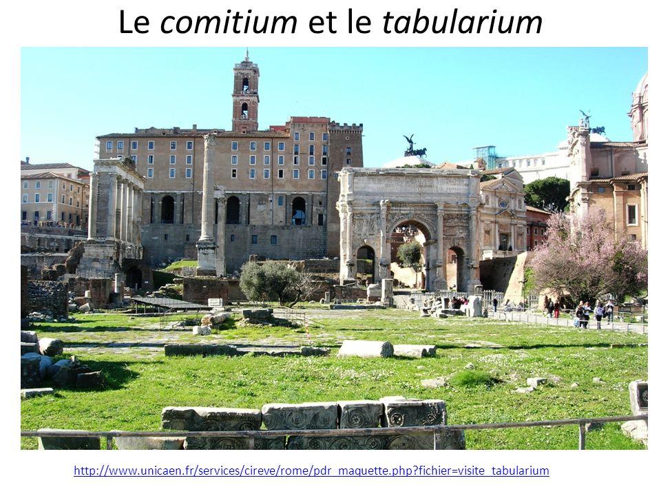 Le comitium et le tabularium
