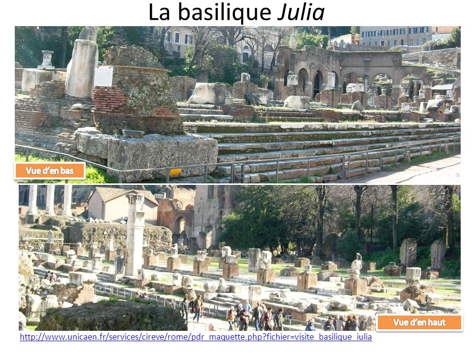 La basilique Julia Vue d'en bas Vue d'en haut