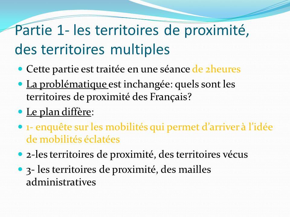 Partie 1- les territoires de proximité, des territoires multiples