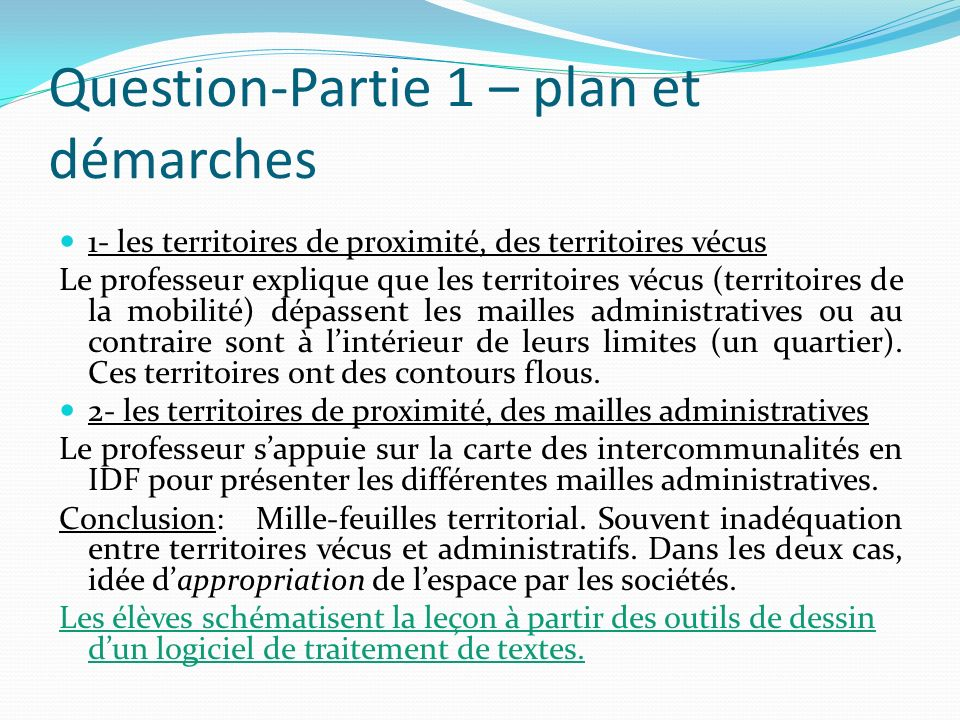 Question-Partie 1 – plan et démarches