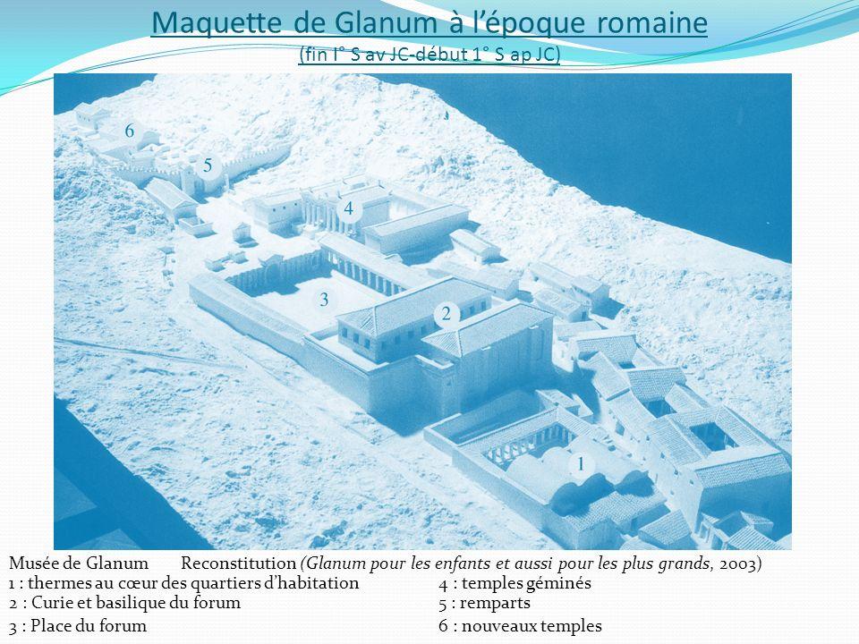 Maquette de Glanum à l'époque romaine (fin I° S av JC-début 1° S ap JC)