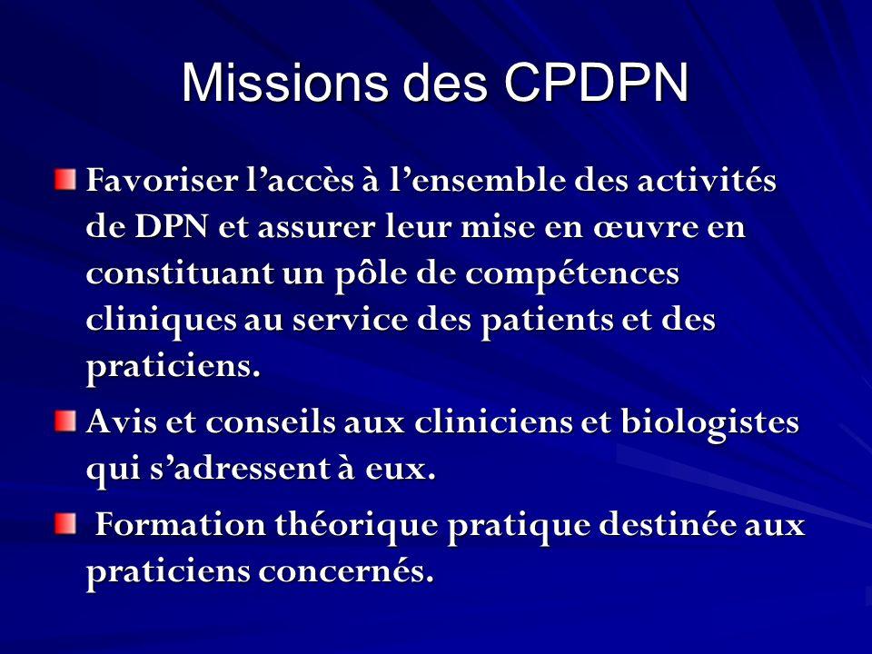 Missions des CPDPN