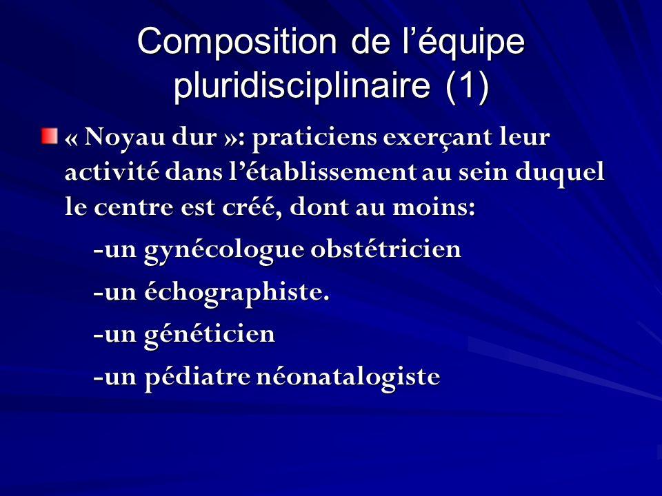 Composition de l'équipe pluridisciplinaire (1)