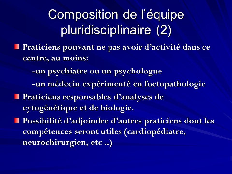 Composition de l'équipe pluridisciplinaire (2)