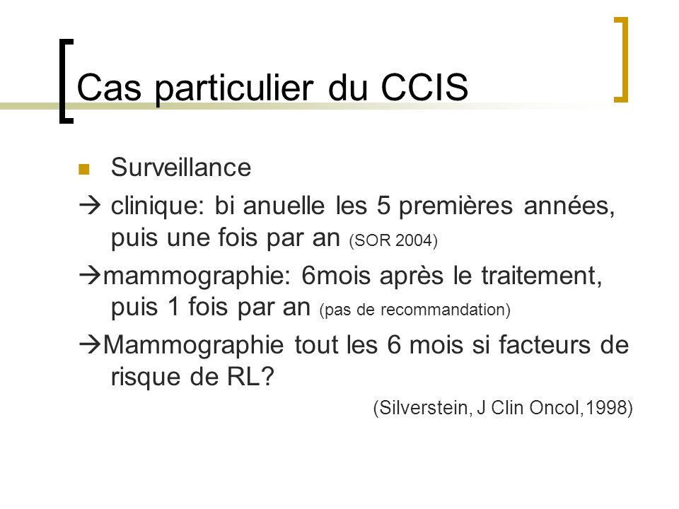 Cas particulier du CCIS