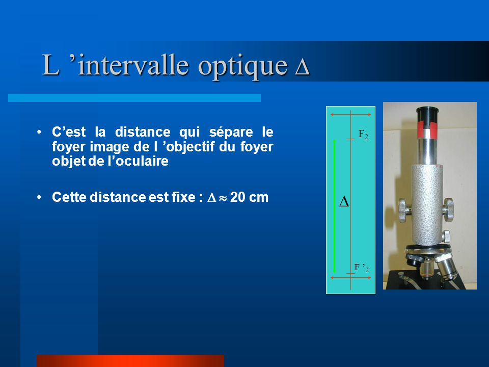 L 'intervalle optique D
