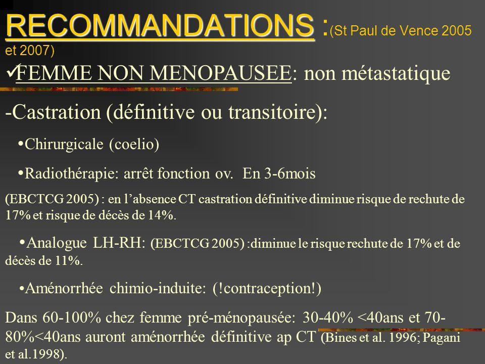 RECOMMANDATIONS :(St Paul de Vence 2005 et 2007)