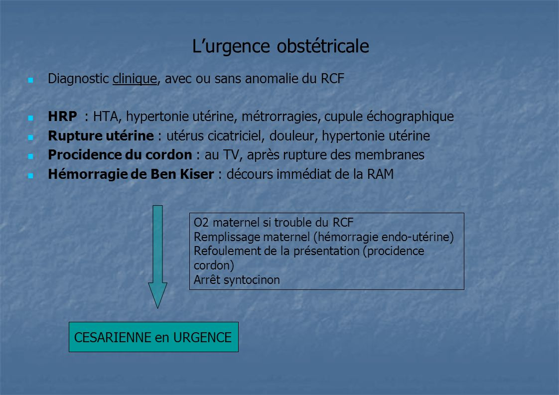 L'urgence obstétricale