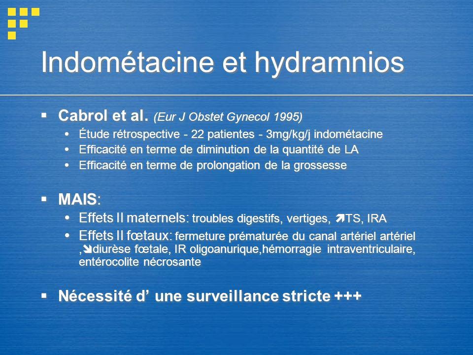 Indométacine et hydramnios