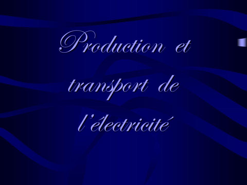 Production et transport de l'électricité
