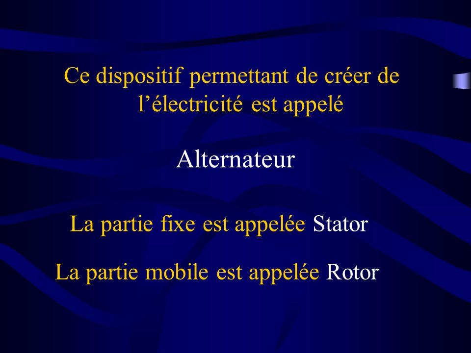 Ce dispositif permettant de créer de l'électricité est appelé
