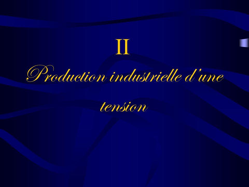 II Production industrielle d'une tension