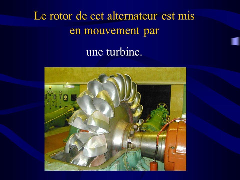 Le rotor de cet alternateur est mis en mouvement par