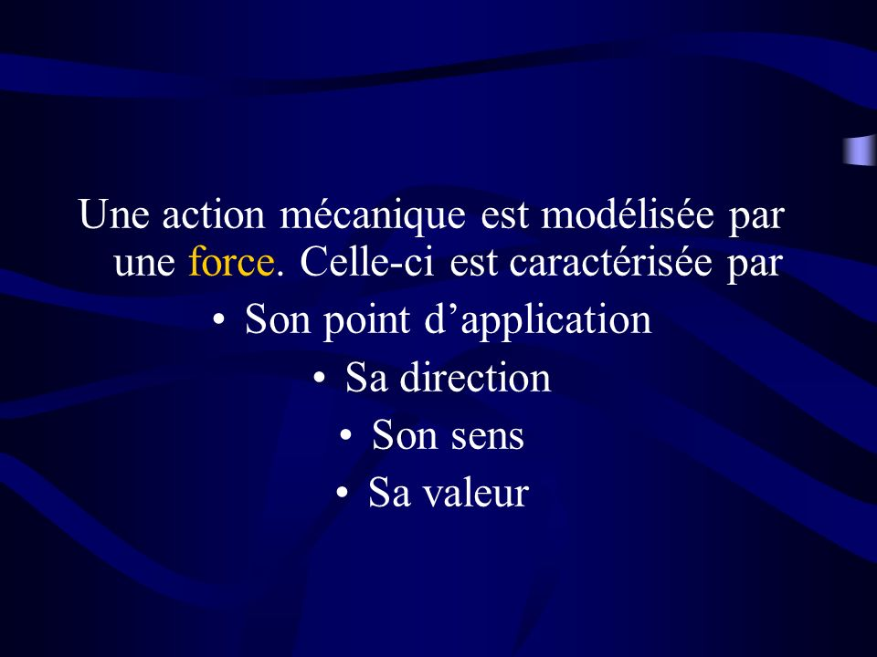 Son point d'application