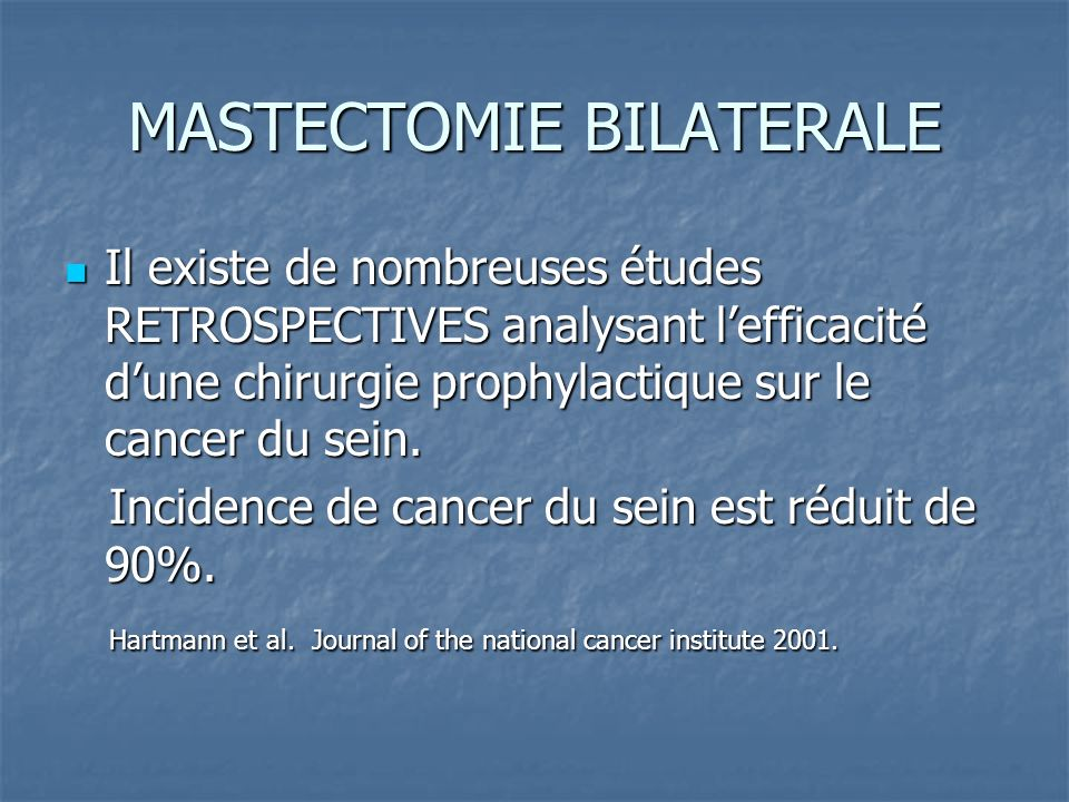 MASTECTOMIE BILATERALE