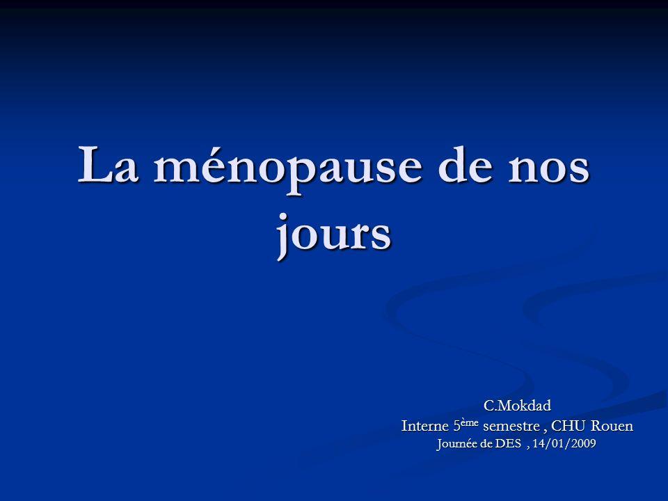 La ménopause de nos jours