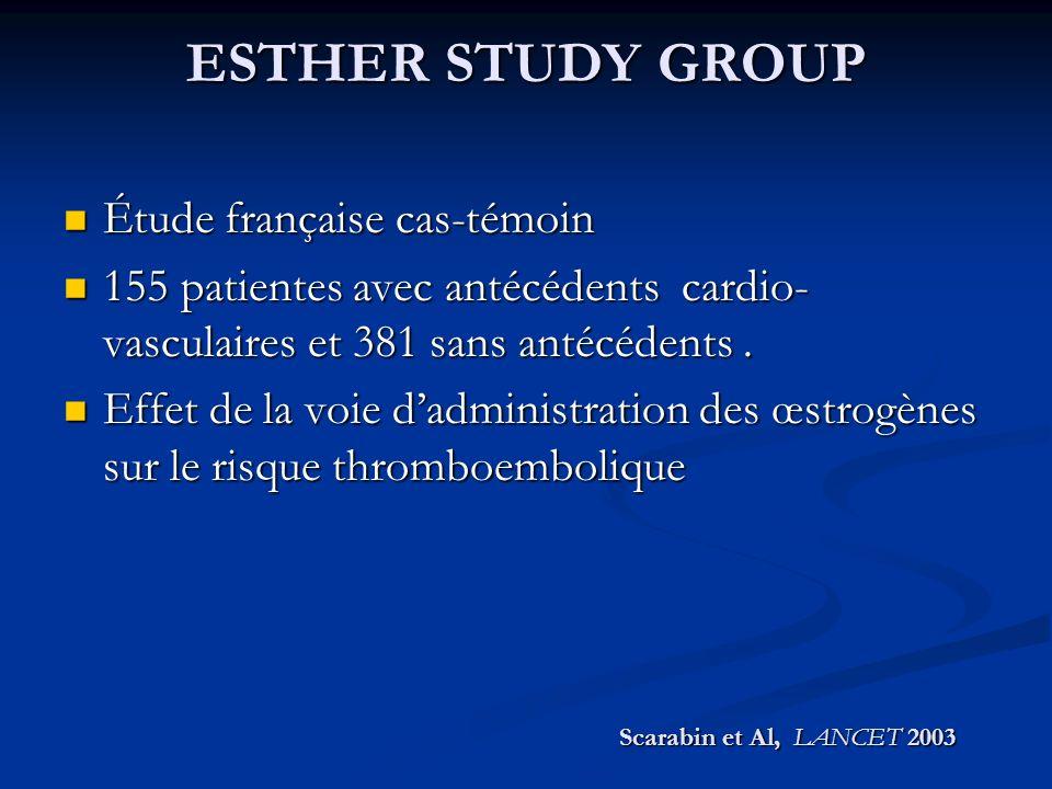 ESTHER STUDY GROUP Étude française cas-témoin