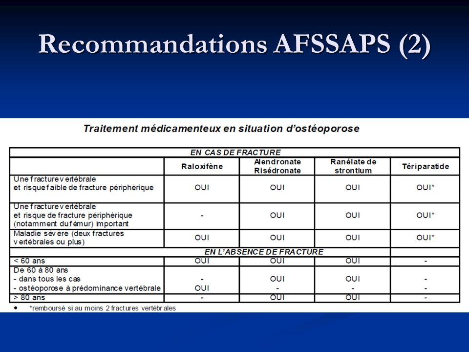 Recommandations AFSSAPS (2)