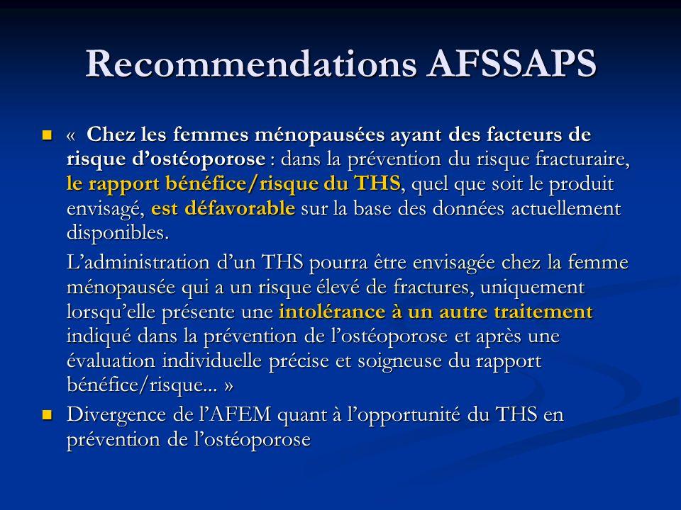 Recommendations AFSSAPS