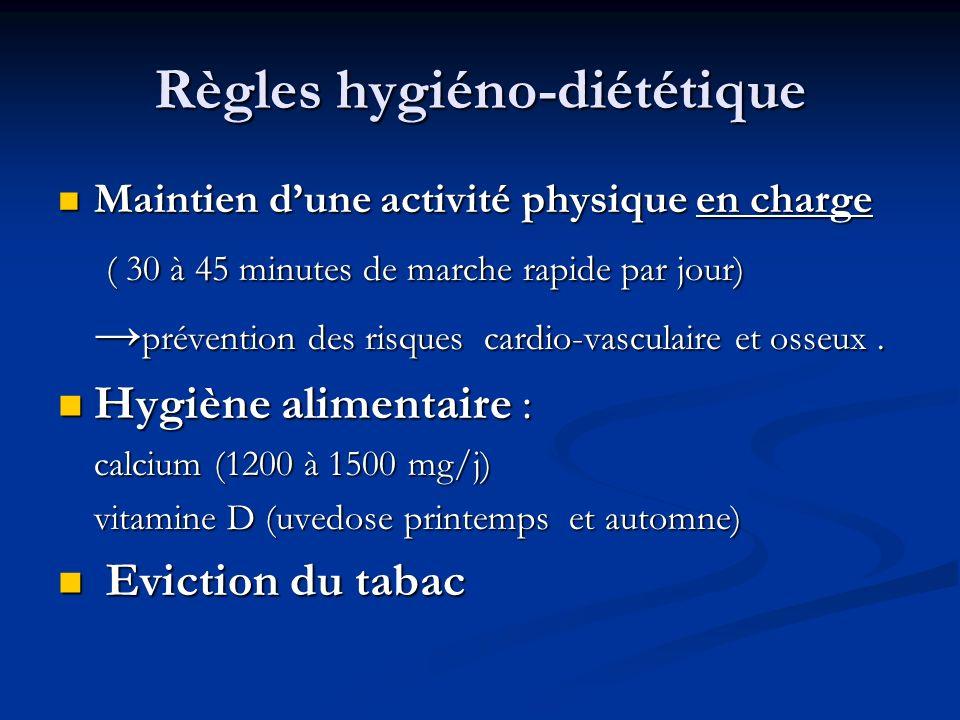 Règles hygiéno-diététique