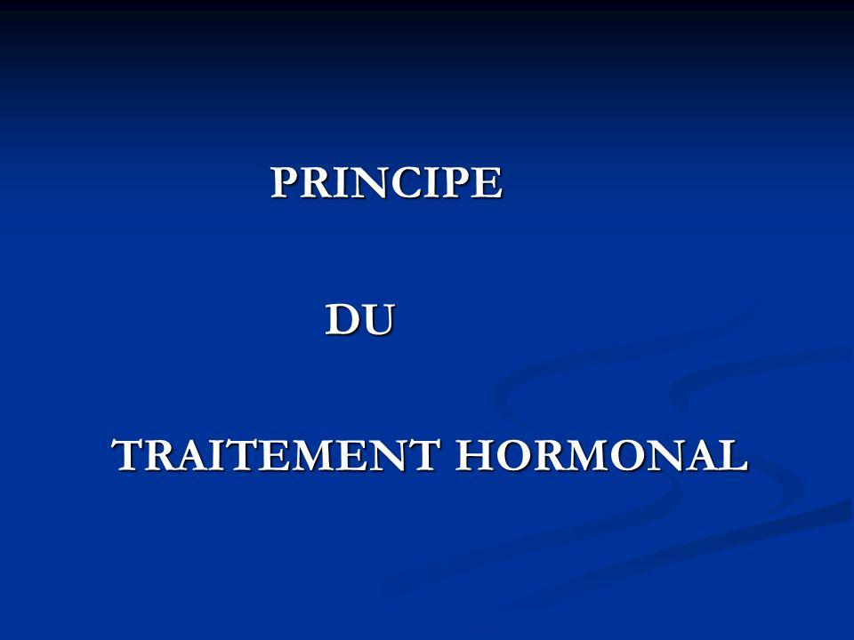 PRINCIPE DU TRAITEMENT HORMONAL