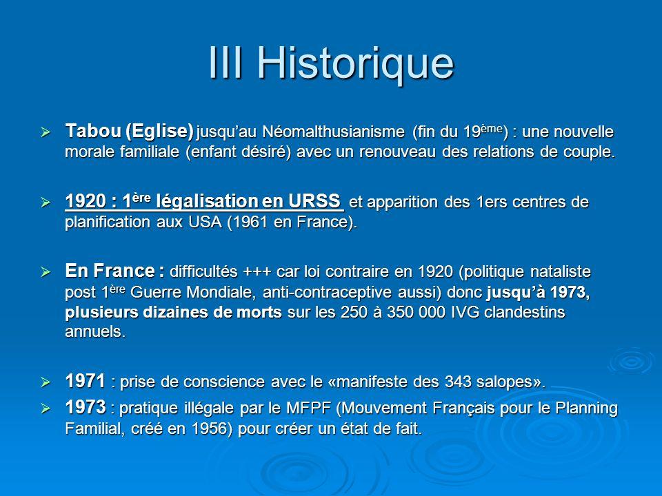 III Historique