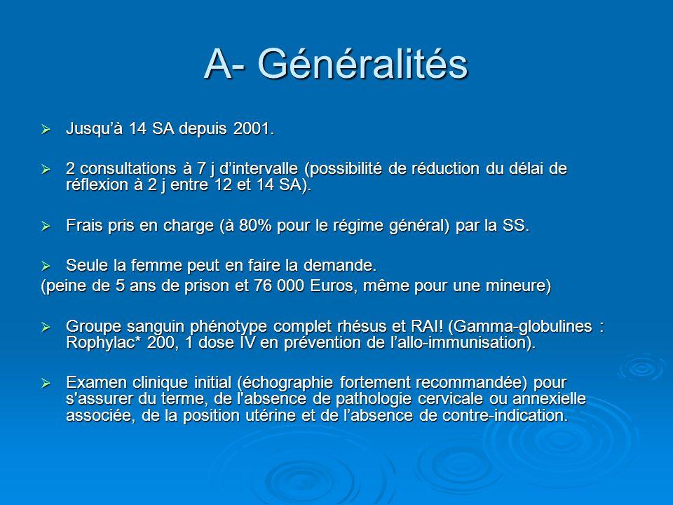 A- Généralités Jusqu'à 14 SA depuis 2001.